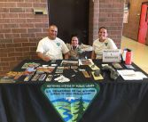 BLM outreach interns at Whitehouse High Career Day in Montezuma Creek, Utah